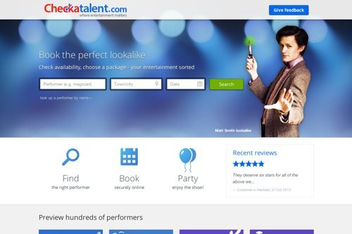 Checkatalent – A Ruby on Rails product for booking entertainers